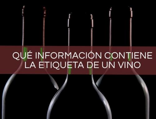 ¿Qué información contiene la etiqueta de un vino?